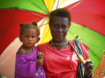 Woman and child, Solomon Islands, Pacific Islands, Pacific - 395-516