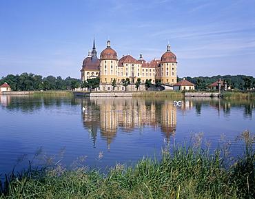 Moritzburg castle, near Dresden, Sachsen, Germany, Europe
