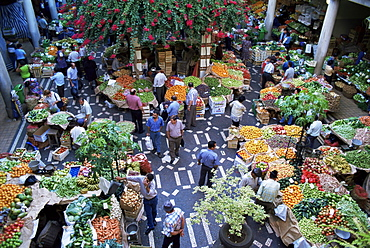 Market hall, Funchal, Madeira, Portugal, Europe