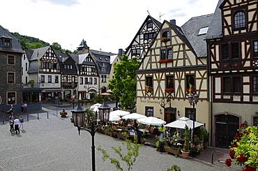 Market Square, Oberwesel, Rhine Valley, Rhineland-Palatinate, Germany, Europe