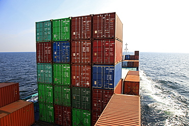 Container ship, Baltic Sea, Sweden, Scandinavia, Europe