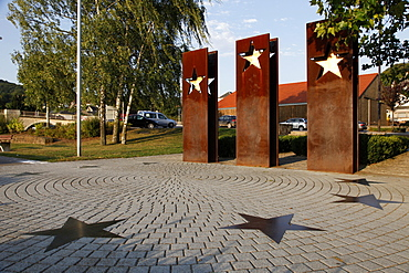 Monument for the Schengen Convention, Schengen, Mosel Valley, Luxembourg, Europe