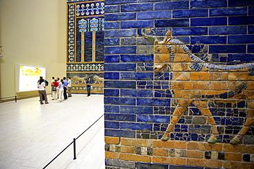 Detail of Ishtar Gate, Pergamon Museum, Berlin, Germany, Europe