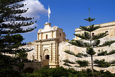 gate to old town, Mdina, Malta, Mediterranean, Europe