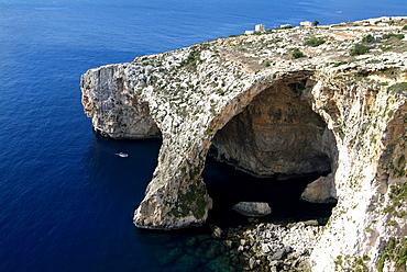 Blue Grotto near Zurrieq, Malta, Mediterranean, Europe
