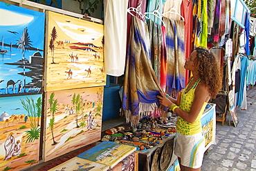 Bazaar in Houmt Souk, Island of Jerba, Tunisia, North Africa, Africa