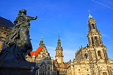 Hofkirche, Dresden, Saxony, Germany, Europe