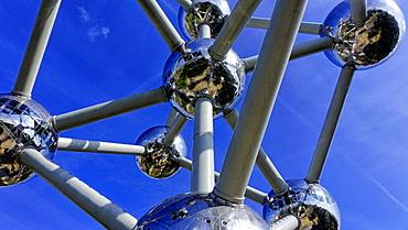 Atomium in the Urban District of Laeken, Brussels, Brabant, Belgium, Europe