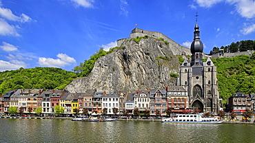 Citadel of Dinant on Meuse River, Dinant, Province of Namur, Wallonia, Belgium, Europe