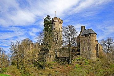 Kasselburg Castle near Pelm, Eifel, Rhineland-Palatinate, Germany, Europe
