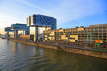 Crane Houses at Rheinau Harbour, Cologne, North Rhine-Westphalia, Germany, Europe