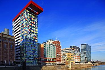 Media Harbour in Dusseldorf, North Rhine-Westphalia, Germany, Europe