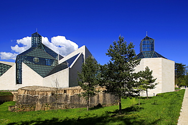Fort Thuengen with Fortress Museum and Mudam Museum, Luxembourg City, Grand Duchy of Luxembourg, Europe