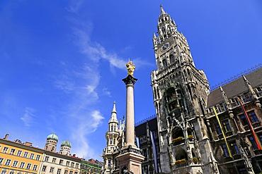 Town hall at the Marienplatz, Munich, Upper Bavaria, Bavaria, Germany, Europe