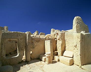 Hagar Qim Temple, UNESCO World Heritage Site, Zurrieq, Malta, Europe