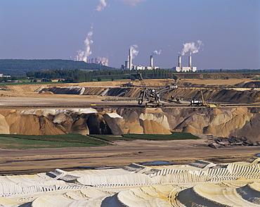 Brown coal mining, Bergheim, near Cologne, Germany, Europe