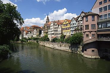Old town and River Neckar, Tubingen, Baden-Wurttemberg, Germany, Europe