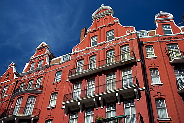 Facade of 19th Century terraced apartments in Cabell Road, Marylebone, London, England, United Kingdom, Europe