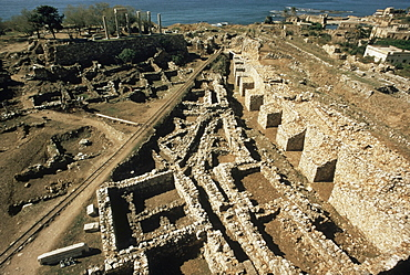 Arrow headed fortification wall of the old Phoenician city dating from the 3rd millennium BC, Byblos, UNESCO World Heritage Site, Lebanon, Middle East