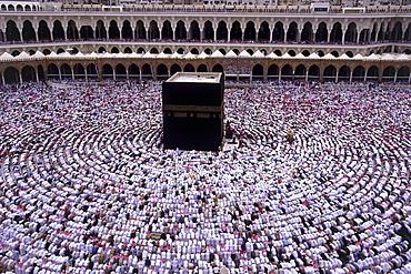 Muslims praying, Mecca, Saudi Arabia - 403-44