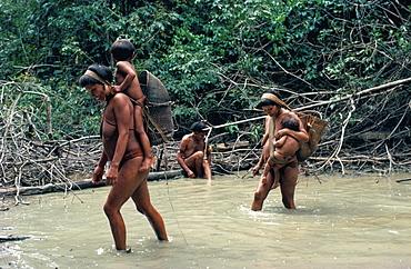 Yanomami Indians fishing, Brazil, South America
