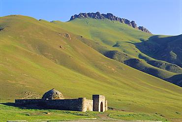 South of Naryn, Tash Rabat Caravanserai, Kyrgyzstan, Central Asia