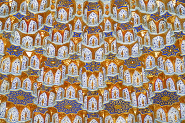 Detail, Tilla Kari mosque, Registan Square, Samarkand, Uzbekistan, Central Asia, Asia