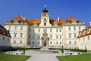 Valtice, 17th century chateau, South Moravia, Czech Republic, Europe