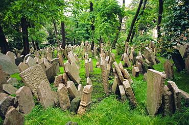 Old Jewish cemetery, Josefov, Prague, Czech Republic, Europe