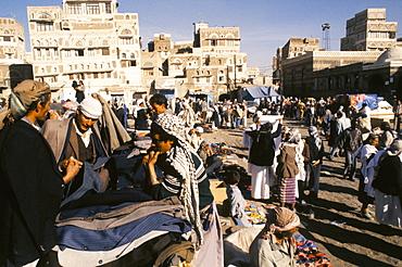 Main souk, Old city, Sana'a (San'a), Yemen, Middle East