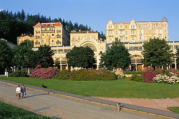 Marianske Lanska (Marianske Lazne) (Marienbad) centre, West Bohemia, Czech Republic, Europe