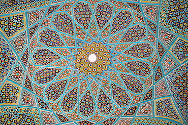 Ceiling of Tomb of Hafez, Iran's most famous poet, 1325-1389, Shiraz, Iran, Middle East