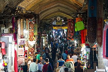 Crowds at entrance of main Tehran Bazaar, Tehran, Iran, Middle East