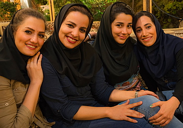 Girls on a night out, Darband, Northern Tehran, Iran, Middle East