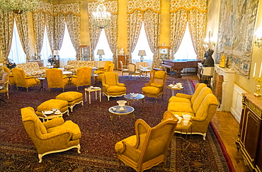 Sitting room, White Palace, the last Shah's Summer Palace, Sa'ad Abad, Tehran, Iran, Middle East