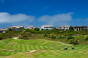 Midday golf being played at the Pezula Golf Course, Kynsna, South Africa, Africa