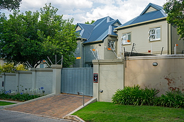 Typical major security precautions taken in prosperous residential Northern Suburbs, Johannesburg, South Africa, Africa