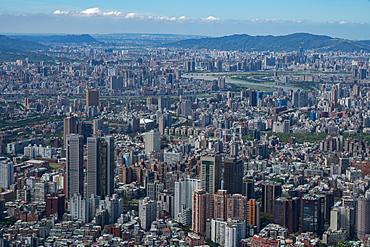 Taipei cityscape as seen from Taipei 101, the world's eighth tallest building at 1667 ft, Taipei, Taiwan, Asia