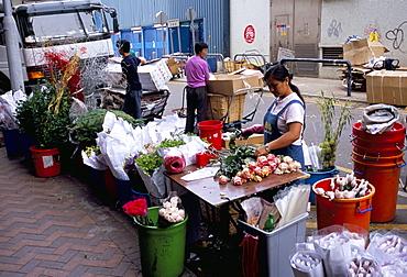 Flower market, Mong Kok, Kowloon, Hong Kong, China, Asia