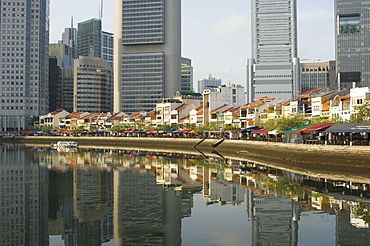 Boat Quay and the Financial District, Singapore, South East Asia