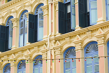 Colourful shutters, Chinatown, Singapore, South East Asia