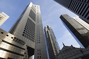 Raffles Place in the Financial District, Singapore, Southeast Asia, Asia