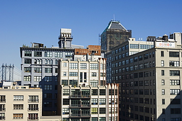 Old buildings redeveloped in the DUMBO area of Brooklyn, New York City, New York, United States of America, North America