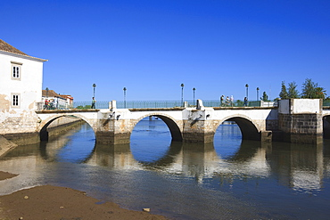 Ponta Romana (Roman Bridge), Tavira, Algarve, Portugal, Europe