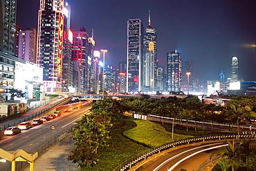 Causeway Bay at night, Hong Kong Island, Hong Kong, China, Asia