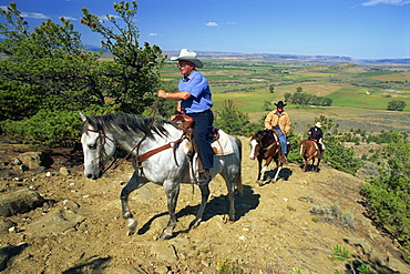 Riding at Shoemaker, Lonesome Spur Ranch, Lonesome Spur, Montana, United States of America, North America