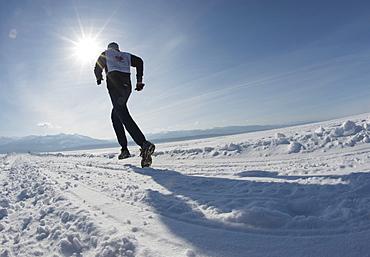 The 9th Lake Baikal Ice marathon, Lake Baikal, Irkutsk Oblast, Siberia, Russian Federation, Eurasia