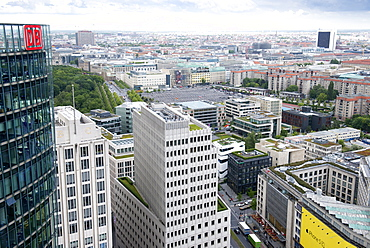 From the top of the Kollhoff building on Potsdamer Platz, Berlin, Germany, Europe