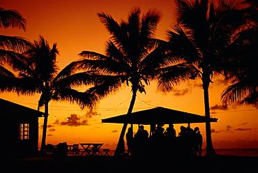 Bar at sunset, Antigua, Caribbean, West Indies