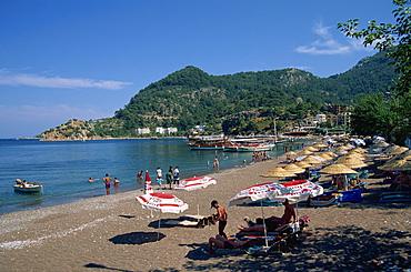 Beach, Turunc, near Marmaris, Anatolia, Turkey, Asia Minor, Eurasia